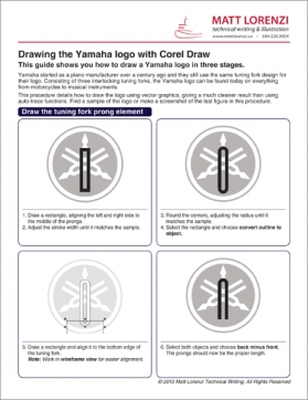 Corel draw logo instructions technical writing and illustration.