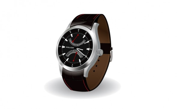Police Brand watch rendering